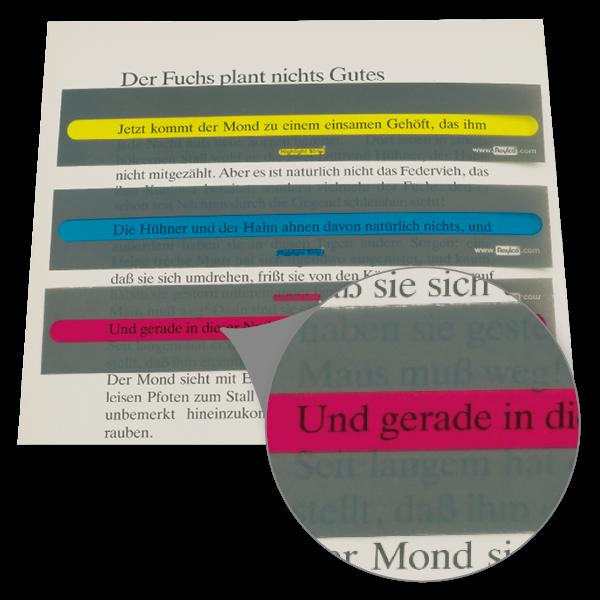 """Folienstreifen """"Leuchtzeile"""", ca. 35x180 mm"""