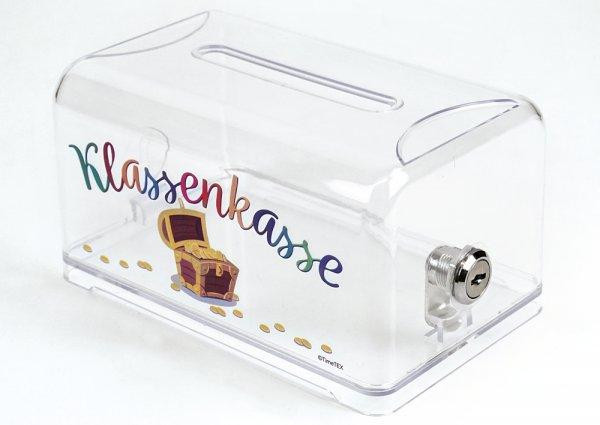 "TimeTEX Klassenkasse ""MoneySafe"" mit Schloss, transparent"