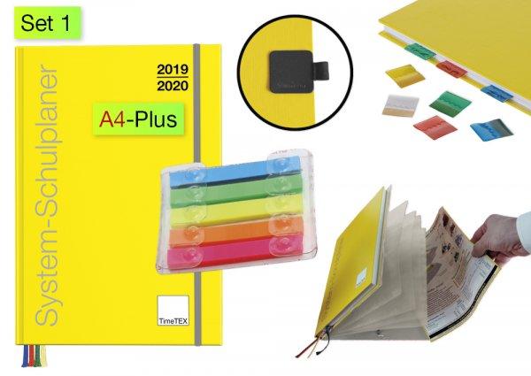 System-Schulplaner-Set 2019/2020 A4-Plus, gelb
