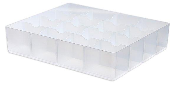 Einsatz für Kunststoff-Box stapelbar, transparent, für 24/36 Liter