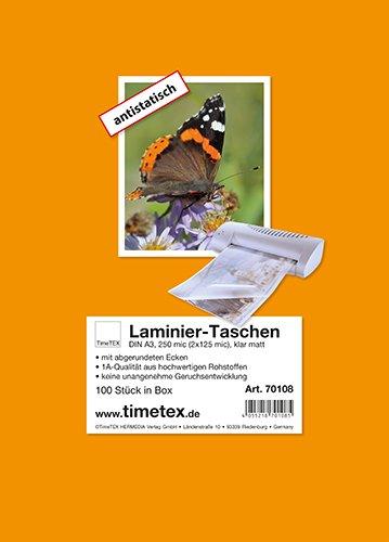 Laminier-Taschen A3 2x125 mic matt, 100 Stück