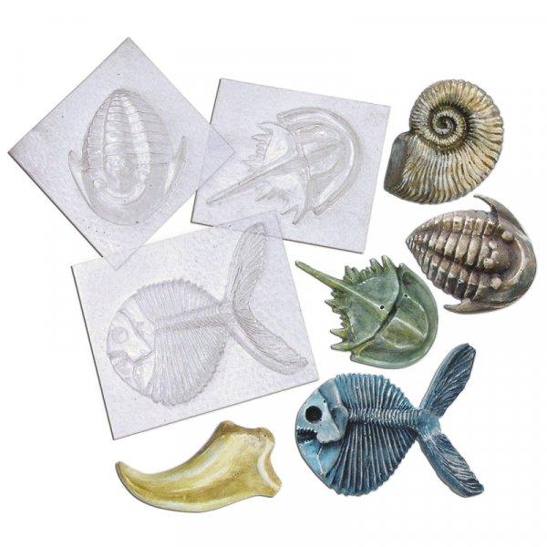 Set Fossilien-Gießformen, 5 Stück