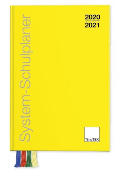 TimeTEX System-Schulplaner A6-Plus, gelb 2020/2021