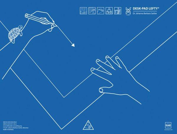 Schreibunterlage für Linkshänder, 53 x 40 cm