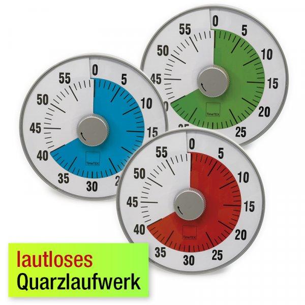 "TimeTEX Zeitdauer-Uhr ""lautlos"" L, 19 cm ø"