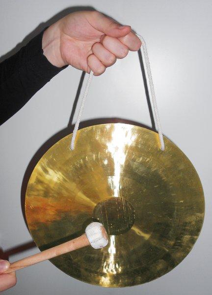 Feng-Gong 25cm ø mit Schlägel in Tasche