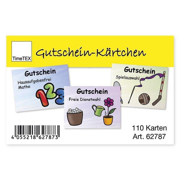 Gutschein-Kärtchen für Schüler/innen, 110 Stck. in Etui