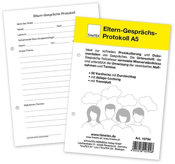 Block Eltern-Gesprächs-Protokoll A5, 50 Blatt mit Durchschlag
