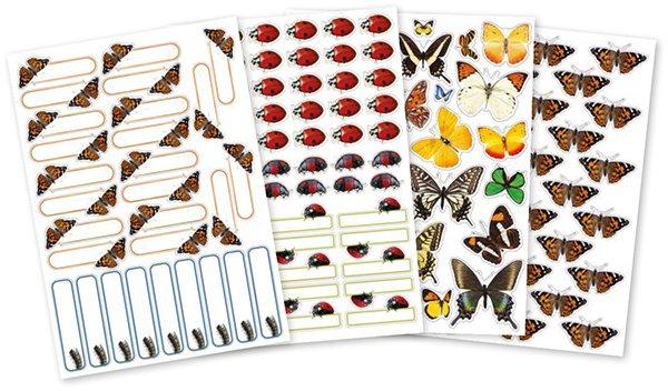 Set Belobigungs-Aufkleber Schmetterlinge & Co., ca. 150 Stück