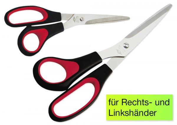 Universalschere schwarz/rot 21cm
