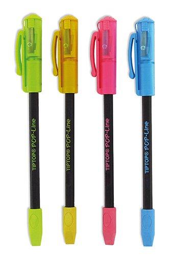 """Bleistift """"3in1"""", mit Spitzer und Radierkappe, 175mm"""