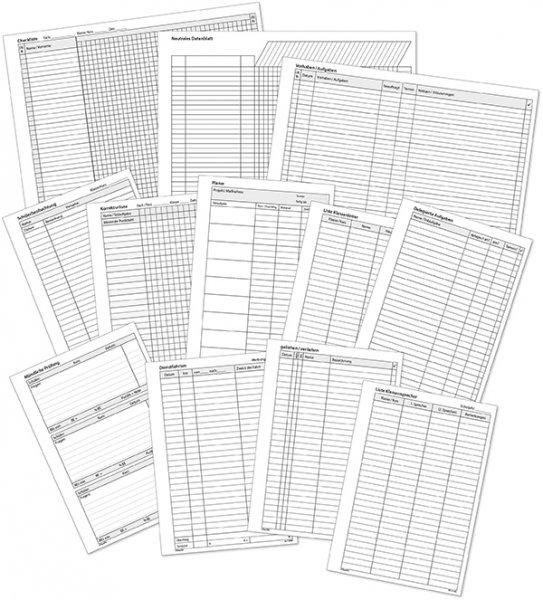 TimeTEX Download-Formulare für Ringbuchplaner A5