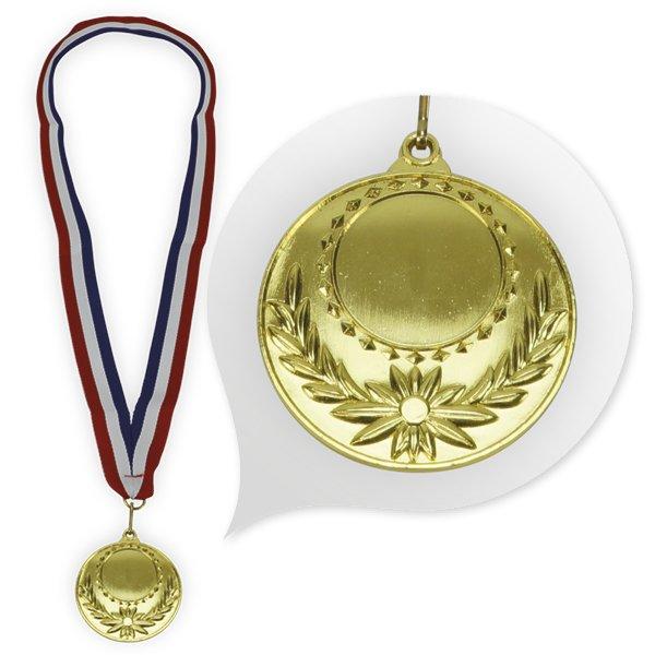 """Medaille """"König"""", gold mit Halsband"""
