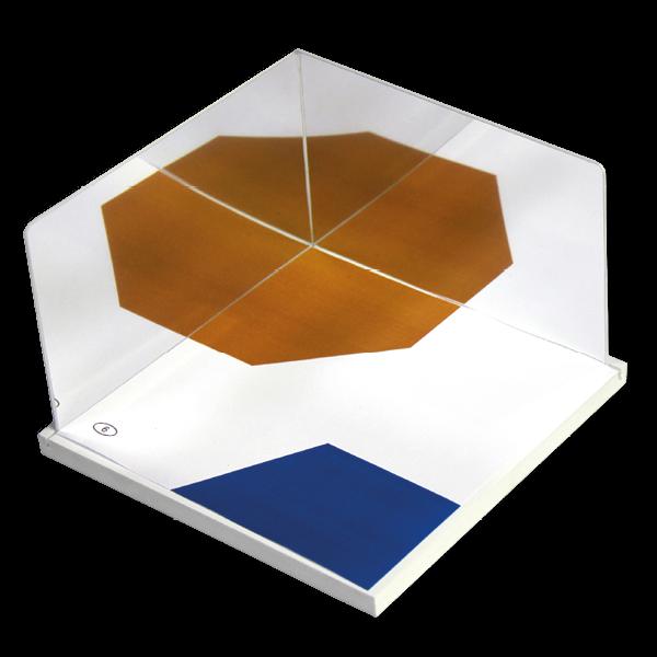 Geometrie-Eckspiegel mit Grundplatte, 18-tlg.