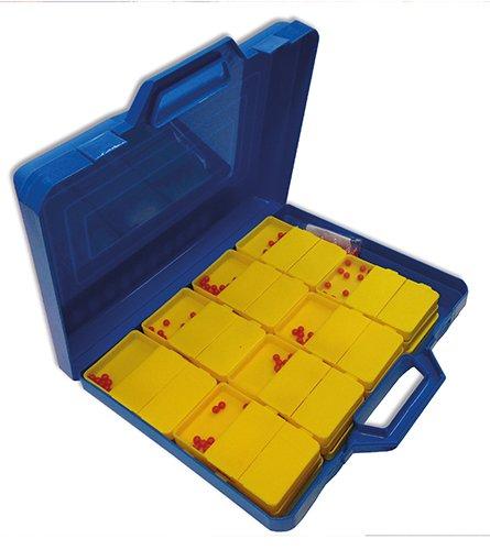 Klassensatz Schüttelboxen gelb, 24 Stück im Koffer
