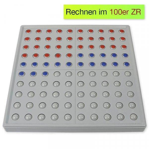 ABACO 100 tricolor rot-blau, Zähl- und Rechenrahmen