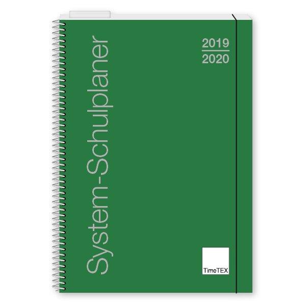 TimeTEX System-Schulplaner A5, grün 2019/2020