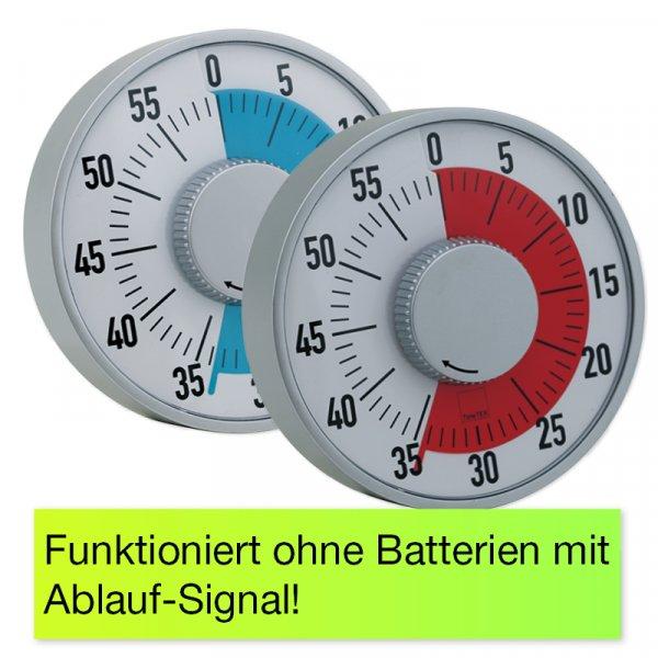 """Zeitdauer-Uhr """"Automatik"""" mit Ablauf-Signal"""
