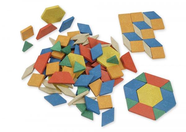 Geometrische Flächen aus RE-Wood, 250 Stk.