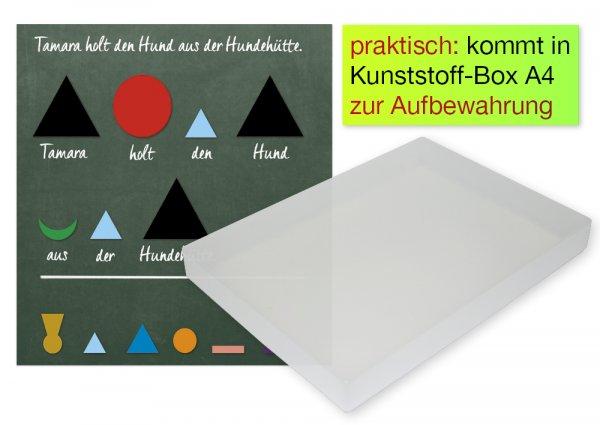 Set Wortarten-Symbole, magnetisch, 60-tlg., in Box
