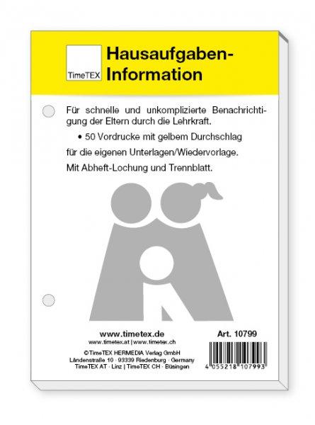 Block Hausaufgaben-Information A6, 50 Blatt mit Durchschlag ...