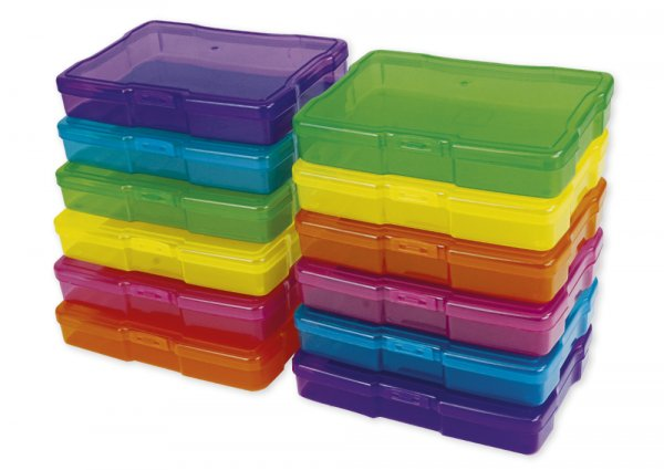 TimeTEX Farb-Boxen im Koffer, transparent, 13-tlg.