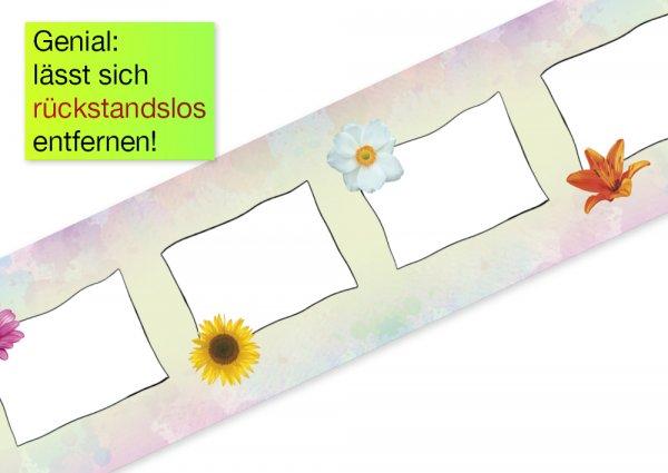 Deko-Band Reispapier 10 cm, selbstklebend + beschriftbar, 10m