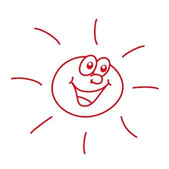 """Siebdruck-Stempel """"Perpetuum"""", """"Sonne"""""""