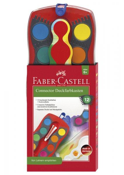 Faber-Castell Farbkasten Connector 12 Farben + 1 Deckweißtube