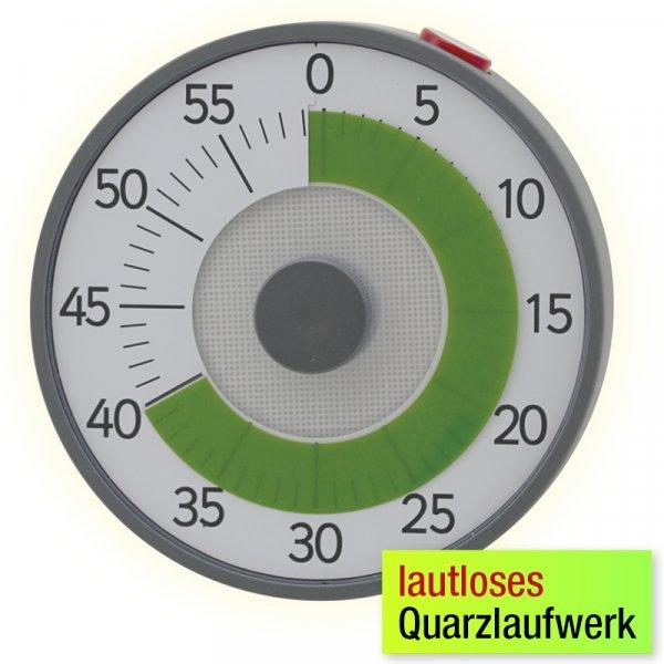 """Zeitdauer-Uhr """"lautlos"""" mit Quarzlaufwerk"""