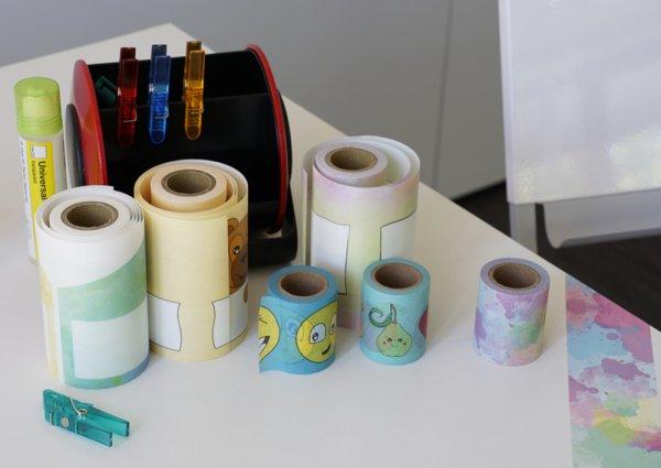 Deko-Band Reispapier 5 cm, selbstklebend, 10m