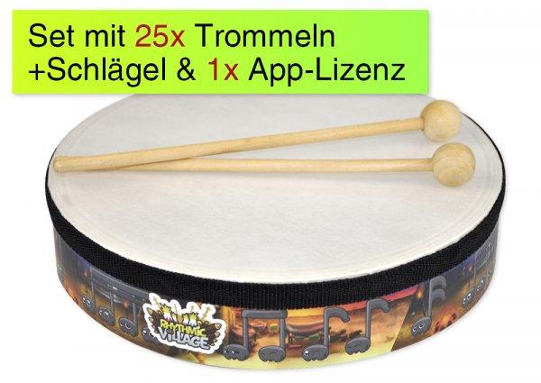 Trommel-Kiste, 25 Handtrommeln, 1 App-Lizenz