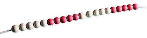 Demo-Rechenkette bis 20, rot/weiß, 5er-Wechsel