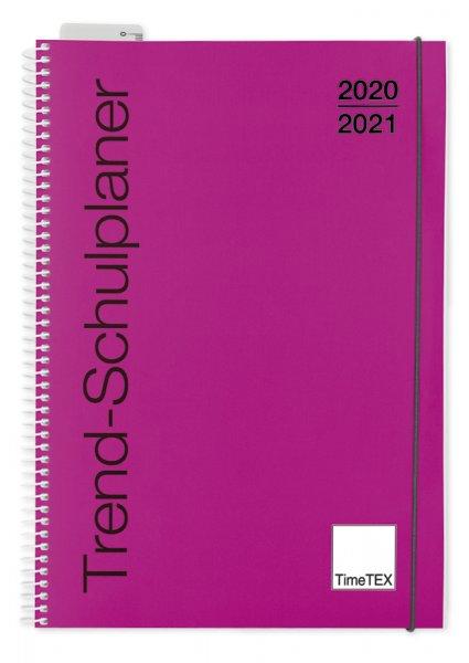 TimeTEX Trend-Schulplaner A4, 2020/2021, magenta