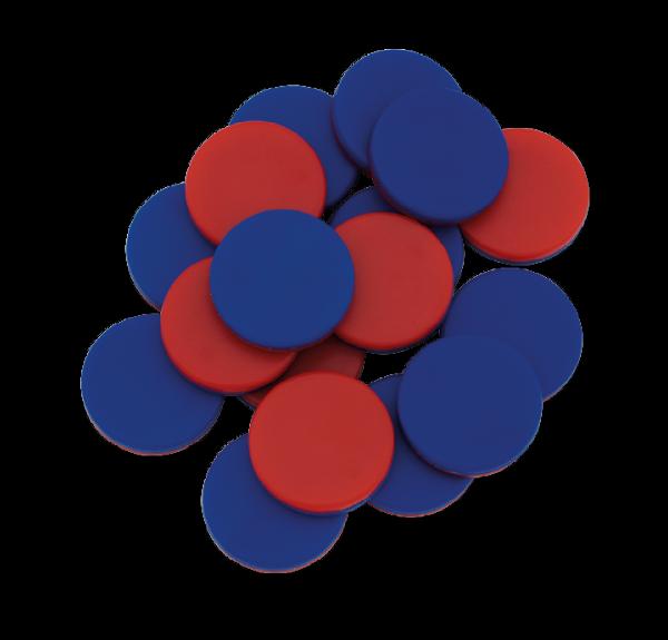 Wendeplättchen blau/rot, 20 St.-Box