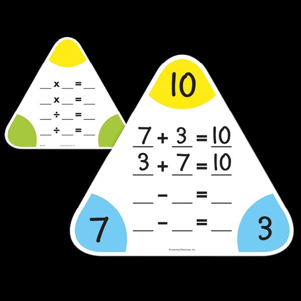 Set Rechen-Whiteboards dreieckig, 25 cm, 5-tlg.