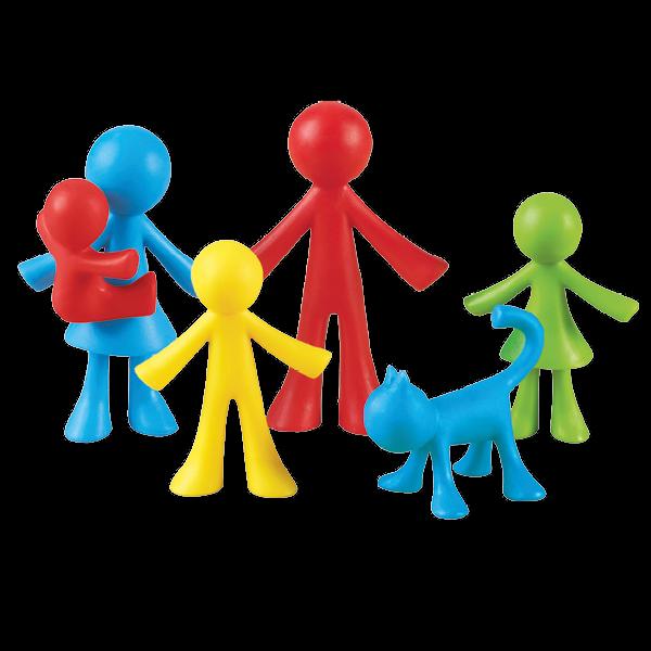 Set Familien-Figuren farbig sortiert, 24-tlg.