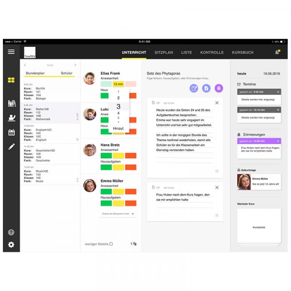TimeTEX Web-App-Schulplaner