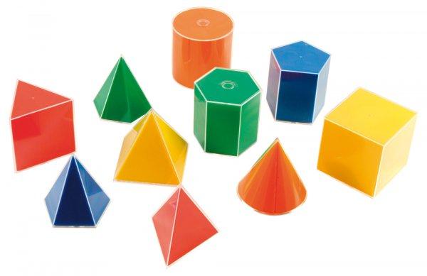 Geometrie-Körper Set mit Flächenabwicklung