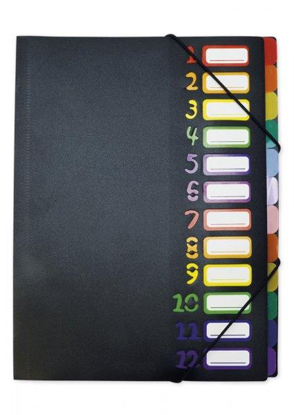 TimeTEX Tisch-Fächermappe A4, farbig mit Verschlussgummi