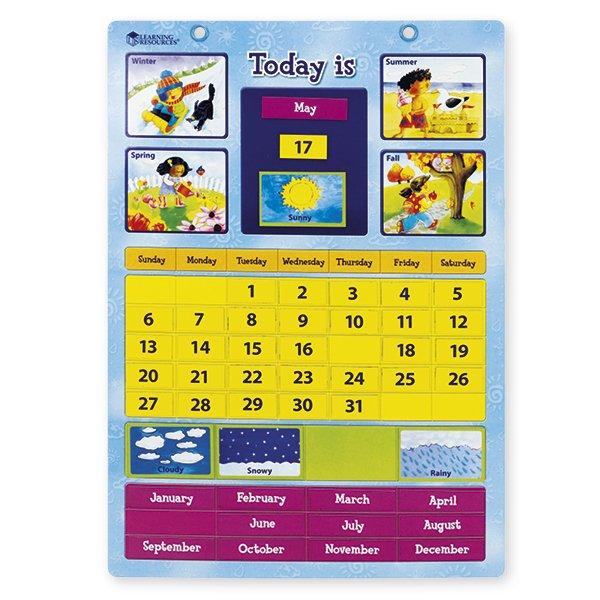 Lern-Kalender Englisch, magnetisch, ca. 30,5x42 cm