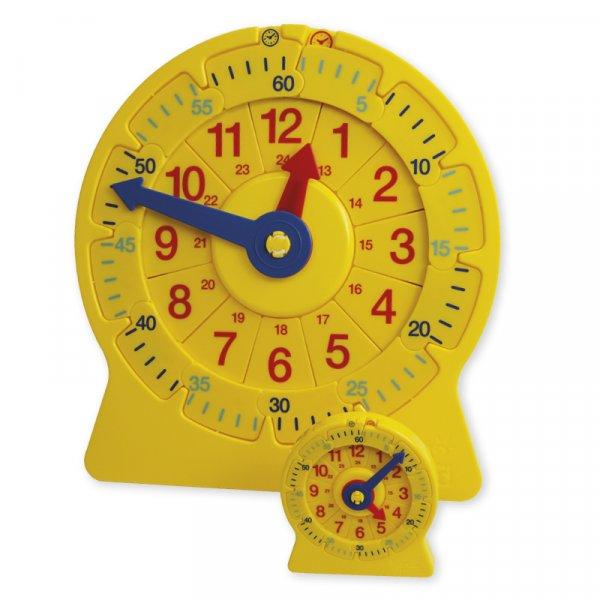 Klassenset Lern-Uhren mit Zahlenstrahl, 25-tlg.