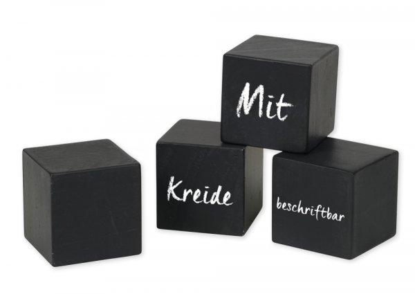 TimeTEX Blanko-Tafelwürfel, 4-tlg., in Holzbox
