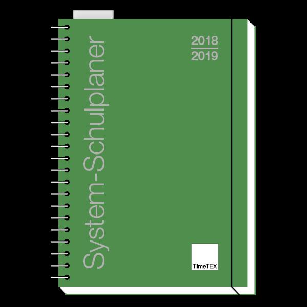 TimeTEX System-Schulplaner A4, grün 2018/2019