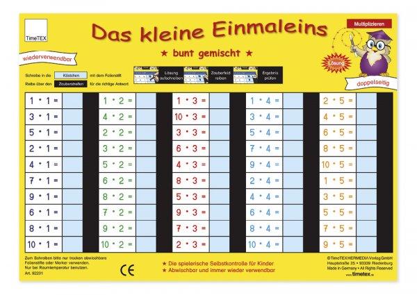 "TimeTEX Zaubertafel ""Mathematik"" Kleines 1x1"