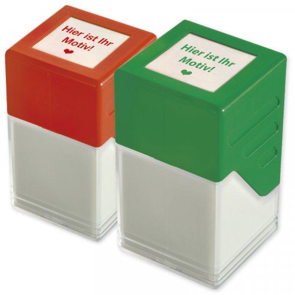 Individual-Siebdruck-Stempel, quadratisch 20x20mm