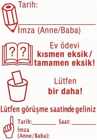 """Siebdruck-Stempel """"Perpetuum"""", 4 in 1, """"Türkisch"""""""
