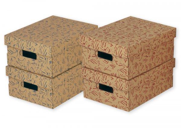 Set Kartons mit Deckel, A4, 4 Stück