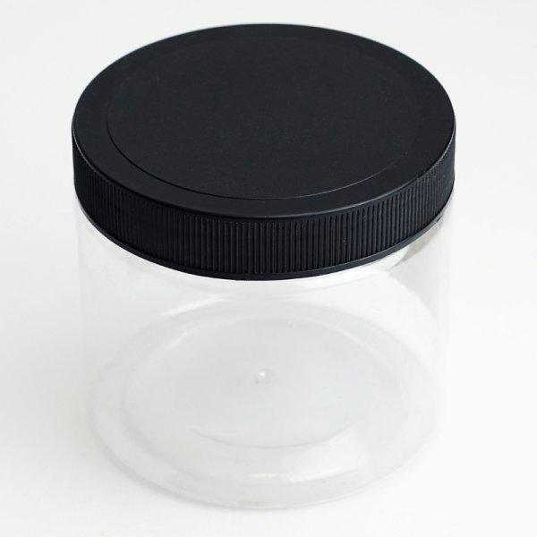 Aufbewahrungsdose mit Drehdeckel schwarz, transparent