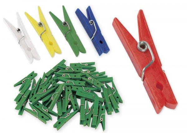 Kunststoff-Klammern 35 mm (f. Markierungen), 50 Stück